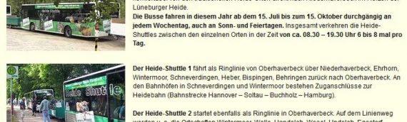 Heide-Shuttle 2012 im Landkreis Heidekreis
