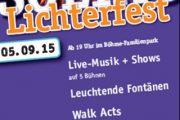 Soltau 2015 Lichterfest im Böhmepark
